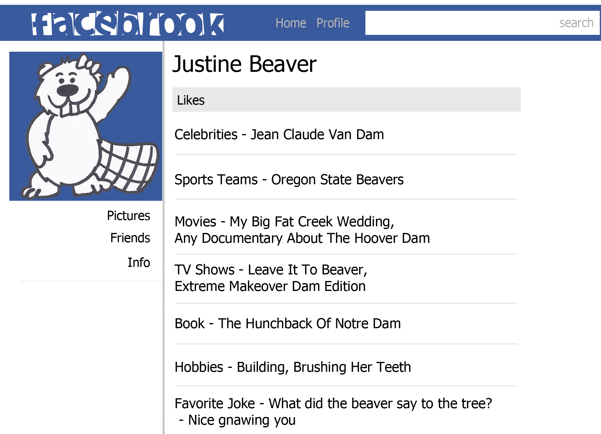 Justin Beaver Profile color