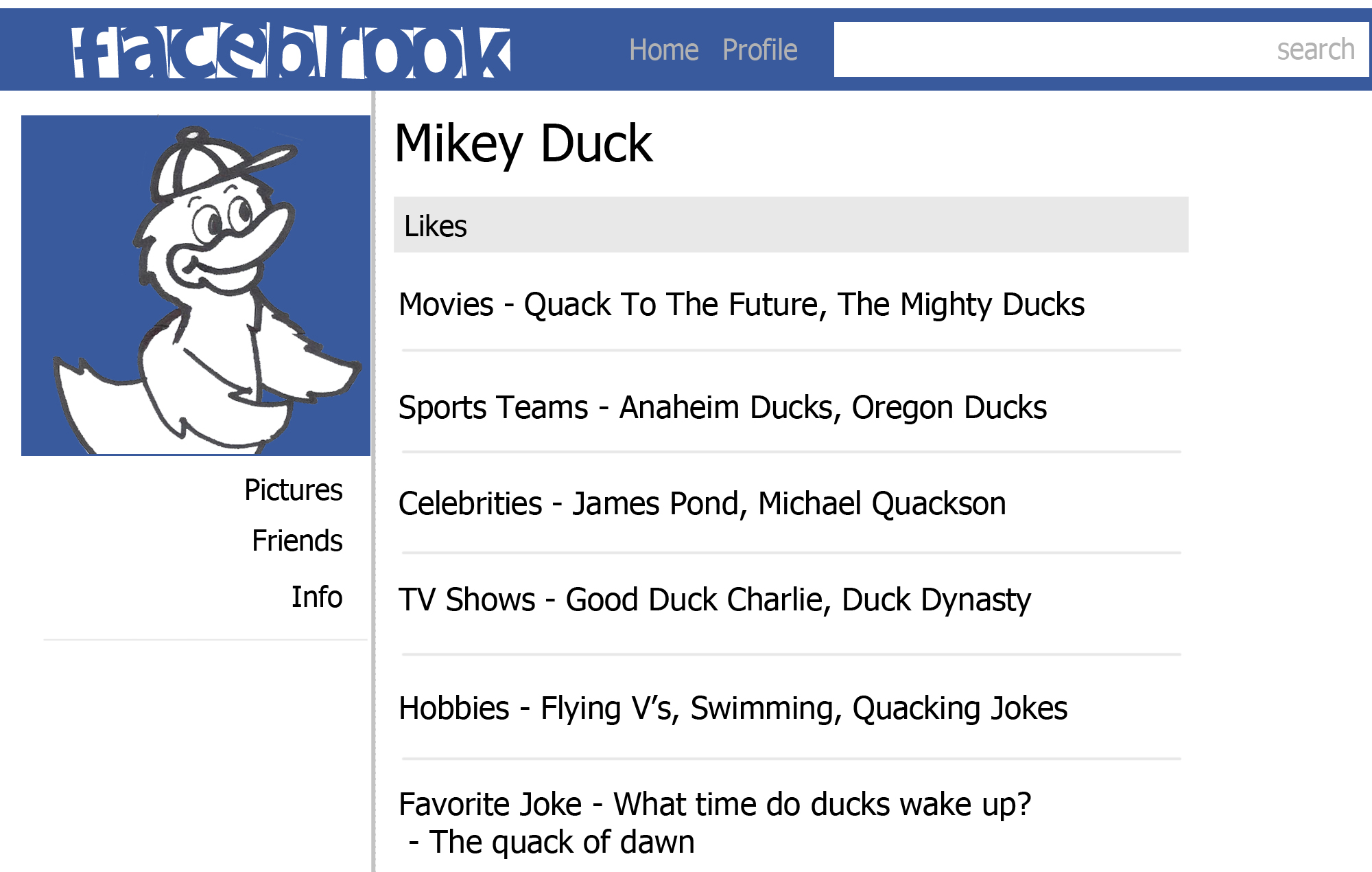 Mikey Duck Profile color